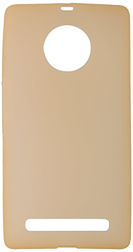 GoRogue Frosted Glowing Ultra Slim Soft Flexible TPU Back Case Cover for Micromax YU Yuphoria YU5010 (Gold)