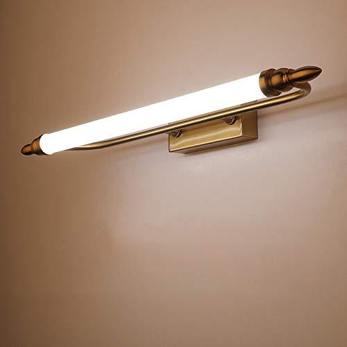 Retro Wandleuchte Neutrales Licht Vanity Light Vanity Mirror Light Eisen Acryl Wandleuchte 9W / 12W / 14W Leuchte für Badezimmer Ankleideraum (Size : 65cm) - Schwanenhals Vanity Licht