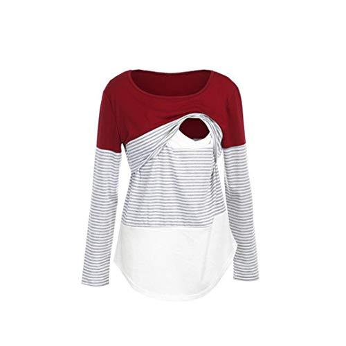 Blouse de Maternité, Solike Femme T-Shirt Chic Tops à Rayé Manches 9c7914e65ee