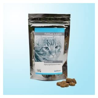 Alfavet FeliGum L-Lysin Mit L-Lysin/Weiche Kaudrops mit sehr guter Akzeptanz unterstützend bei Katzenschnupfen.