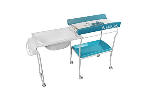 Plastimyr Bañera Extraíble + Cambiador Bebes PLASTIMONS Azul
