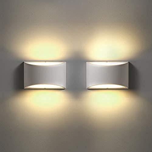 Led Wandleuchten Beleuchtung Warmweiß Wandleuchte Putz Wandleuchte Schlafzimmer Wohnzimmer Badezimmer Treppe Flur Veranda Hotel@2 Pack