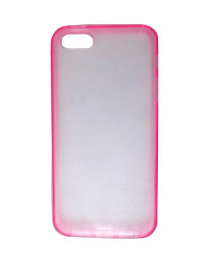 icase Fall/Abdeckung für Iphone 5/5G - Ultradünne transparent hart zurück Fall/Abdeckung für Iphone 5/5G mit glänzend rosa Seiten (Flip Hello Galaxy Case 5 Kitty)