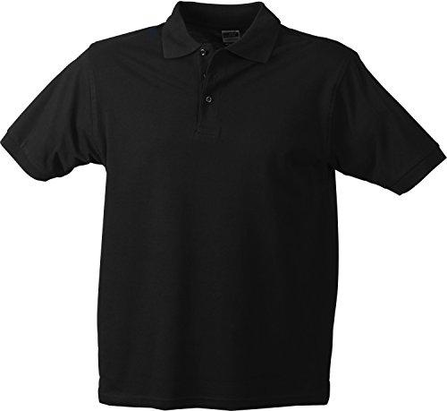 Classic Polo/James & Nicholson (JN 070) S M L XL XXL 3XL, schwarz, XXL