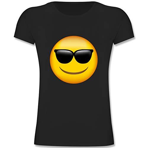 Staat Beliebte Von Kostüm - Anlässe Kinder - Emoji Sonnenbrille - 140 (9-11 Jahre) - Schwarz - F131K - Mädchen Kinder T-Shirt