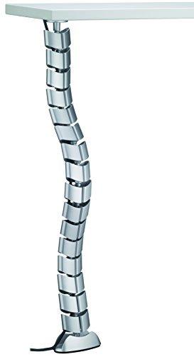 Design Kabel-Durchführung für Schreibtische Kabelkanal Kunststoff Kabelmanagement für PC-Tische | Kabelschlange 790 mm für Bürotische | Kabelhalter silber eloxiert | 1 Stück - Kabelführung Tisch