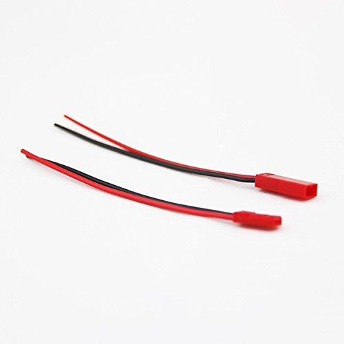 LaDicha DIY Jst Stecker Buchse-Stecker Mit Kabeln Für Rc Lipo Batterie FPV Drohne Quadcopter (Buchse Und Stecker Kostüm)