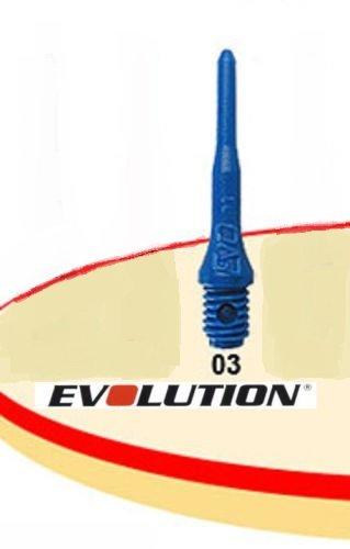 Evolution Evo Dartspitzen, 2BA, 100 Stück, Blau