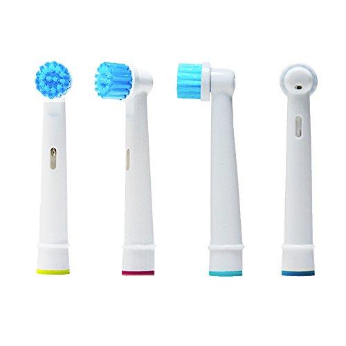 oral-q EBS17–pezzi Testine di ricambio per spazzolini elettrici compatibili con Braun Oral Q 3D Sensitive Clean