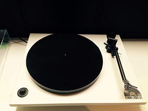 Vinyl Guru Leder Plattenspieler-plattenteller-mat - Schwarz - Leder Plattenspieler-matte