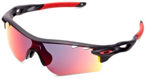 04af2fed45 Oakley Gafas de sol deportivas MATE NEGRO DE TINTA rojo positivo Radarlock