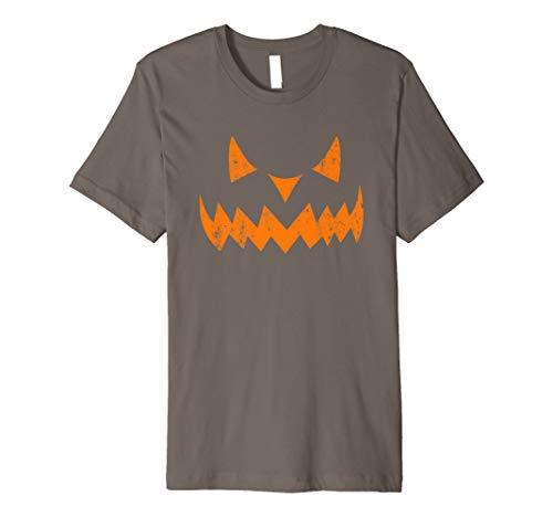 (Pumpkin Scary JACK O' LANTERN Halloween Costume Face T Shirt)