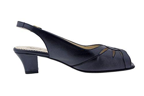 Chaussure femme confort en cuir Piesanto 4015 sandale comfortables amples Noir