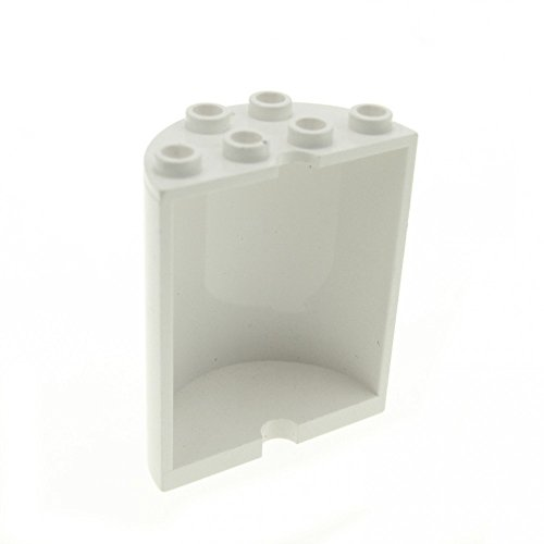 Wars Star Lego Mauer (1 x Lego System Zylinder weiß 2x4x4 halb rund Panele Stein Ufo Wand Mauer SW 9495 10213 6218 6259)