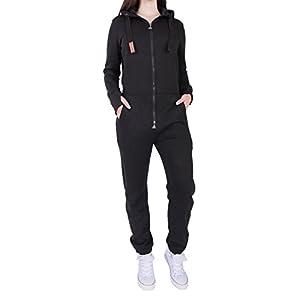 Finchgirl FG181 Damen Jumpsuit Overall Einteiler Jogging Anzug Trainingsanzug Elastischer Bund