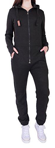 10C3 Finchgirl FG181 Damen Jumpsuit Overall Einteiler Jogging Anzug Schwarz L