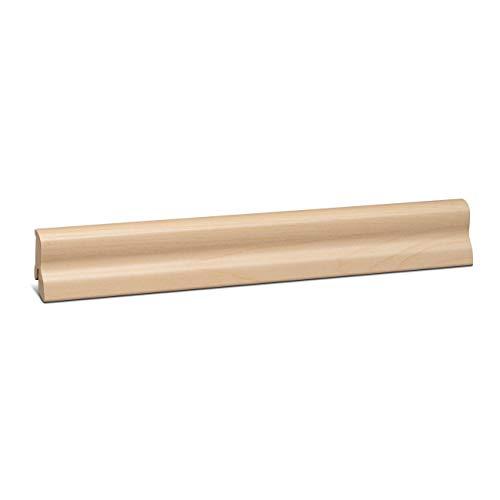 KGM Laminatleiste Marburger | Ahorn Sockelleisten 40mm ✓Clip Leiste für unsichtbare Befestigung ✓geschwungene Leiste | mdf Fußleiste 20x40mm mit Qualitätsfolie Ahorn | Länge 2.5m
