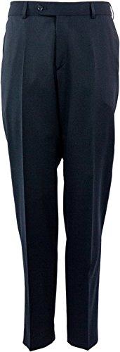 Business Pantaloni Aldo zum vestito di Atelier Torino, Nero, pura lana vergine, Slim Line Nero