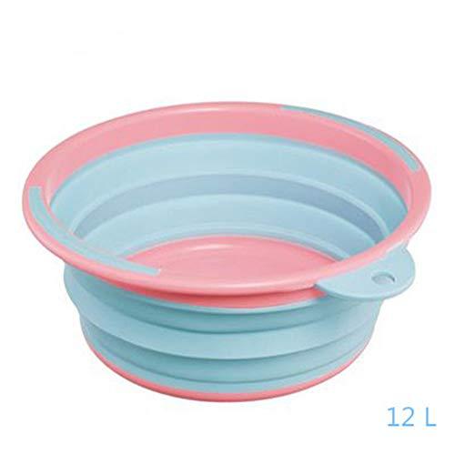 Bañera para platos plegable, fregadero de lavado de gel de sílice portátil...