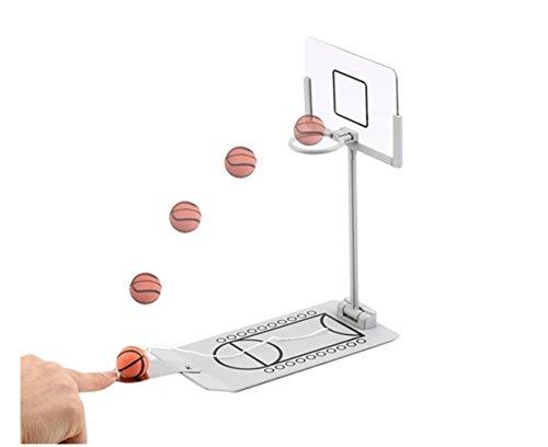 Aidle Mini faltbare Tischplatte gefedert Basketball Spiel Desktop Toy-Indoor Outdoor Fun Sport Neuheit Spielzeug oder Gag-Geschenk-Idee (Modus 1)