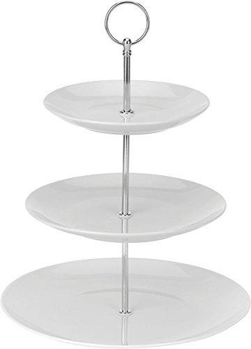 Porzellan Etagere 3-stöckig - Höhe ca. 27 cm