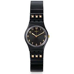Swatch Reloj Analogico para Unisex de Cuarzo con Correa en Acero Inoxidable LB181B