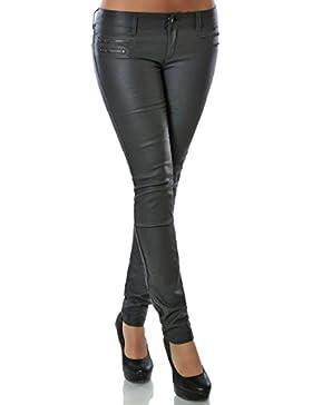Damen Hose Kunstlederhose Skinny Röhre (weitere Farben) No 14258