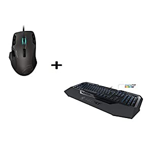 Roccat by Fiducia B-Ware Isku FX Multicolor Gaming Tastatur DE-Layout LED Beleuchtet + ROCCAT Tyon B-Ware All Action Multi-Button Gaming Laser Maus 8200dpi, 14-Tasten, USB + Gratis Fiducia Mauspad