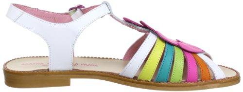 Agatha Ruiz De La Prada 132998A, Sandales fille Blanc (A-Blanco Y Multicolor)