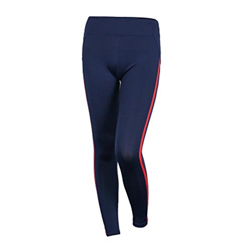 Femme pantalon couture de yoga / fitness pantalon stretch serré / pantalon de jogging Blue