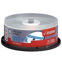 Imation DVD Media in Bulk Pack (30 Spindle (White Inkjet Printable), DVD +R)