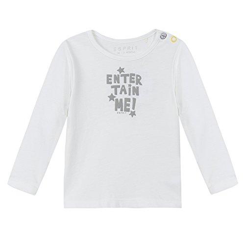 Esprit Kids Unisex Baby T-Shirt RI1004A, Weiß (Weiß 110), 62
