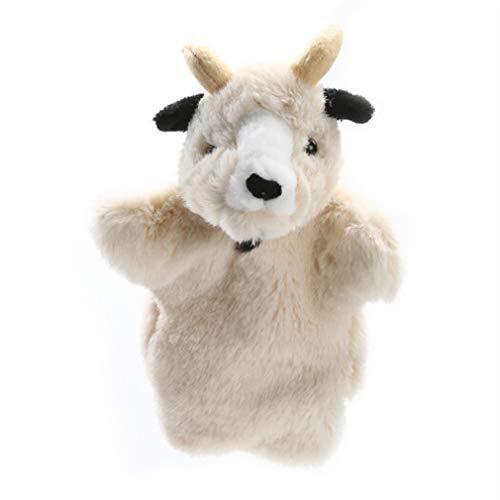 MOONRING Ziege Handpuppe Kreative Vater und Sohn Farm Animal Handpuppe Niedliche Plüsch Finger Puppe Puppenspiel Spielzeug, Alte Ziege