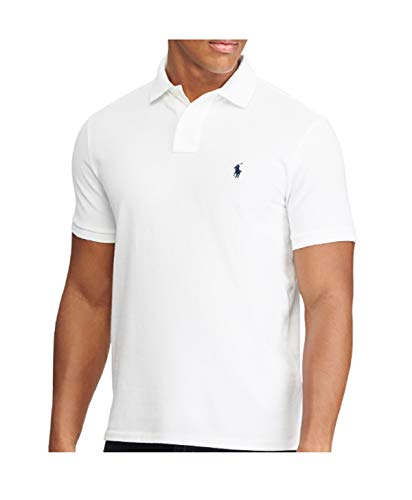 Polo Ralph Lauren SS KC Slim Fit White Polo Homme