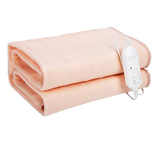 Authda Manta eléctrica para cama de 180 x 200, 2 niveles de temperatura, color beige