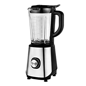 Venga! VG BL 51362 Mixer Smoothiemaker, Eis-Crusher, Obst- und Gemüsemixer - 1000 W, 1,5 Liter, Silber, Schwarz