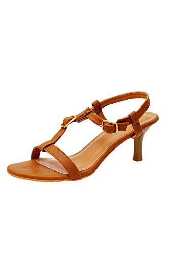 iLO Women's Brown Synthetic Heels (IL06A368HE-61023) - 7 UK  available at amazon for Rs.979