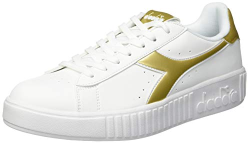 Diadora Game Step Graphic, Scarpe Sportive Donna, Multicolore (Bianco/Oro C1070), 37 EU