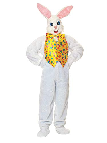 White Kostüm Bunny Deluxe - Rubie's Easter Bunny Super Deluxe Costume Adult Standard