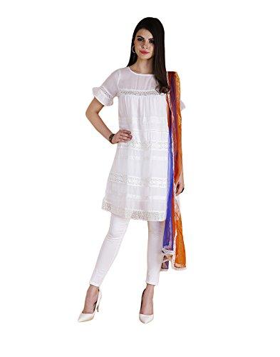 Yepme Women's White Gorgette Salwar Kameez Set - YPMSKD0082_XS