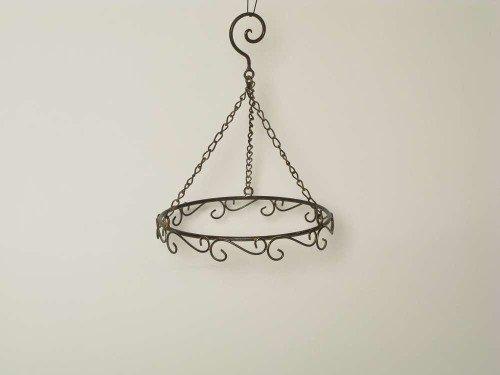 Unbekannt Ring Deko- Kranz Dekohänger Metall Braun- Rost 20,5 cm Durchmesser Zum Dekorieren