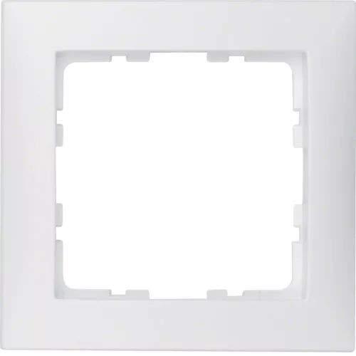 Hager S1–Rahmen 80x 801Element weiß Polar