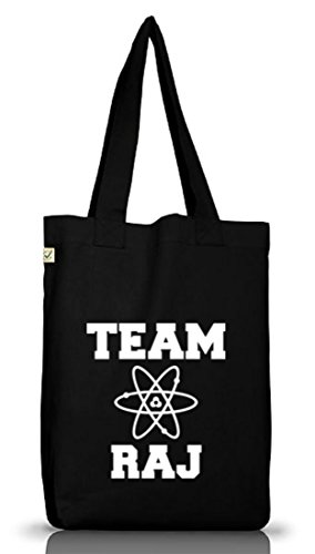 Shirtstreet24, TEAM RAJ, Jutebeutel Stoff Tasche Earth Positive Black