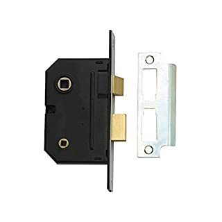 Yale Essentials High Quality Bathroom Privacy Lock, 2.5 inch/64mm Mortice Toilet/Restroom Door Sashlock with Easy Fitting Template and Instructions. (Chrome)