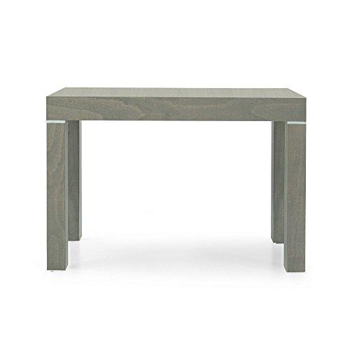 Tavolo Da Pranzo Moderno Di Design Allungabile A Consolle Tortora Cm 90 X 50/100/150/200/250/300 Per Interno Sala Da Pranzo