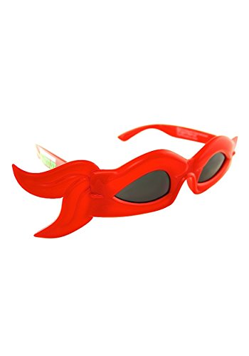 (Sunstaches Officially Licensed TMNT bandana Glasses, Red by H2W)