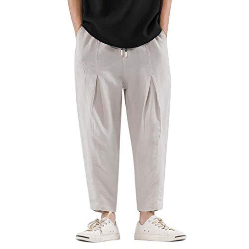 Herren Persönlichkeit Freizeit Kariert Neun Hosen Mode Große Hosen