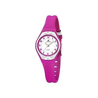Calypso Watches – Reloj analógico de Cuarzo para niña con Correa de Caucho, Color Rosa