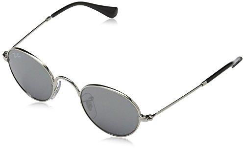 RAYBAN JUNIOR Unisex Sonnenbrille Rj9537s, (Gestell: Silber, Gläser: Grau Verspiegelt 212/6G), Small (Herstellergröße: 40) -