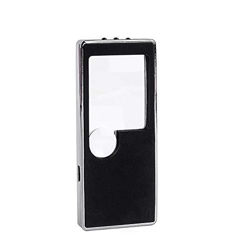 Carl Artbay Nagelneu, hohe Qualität LED beleuchtete UV-Lampe 3X 10X Faltbare tragbare Taschenkarte Lupe überprüfen, Schmuck, Münzen, Briefmarken, Reisen HD tragbar - Briefmarken überprüfen